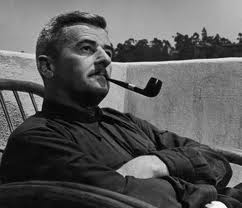 pretentious man with pipe